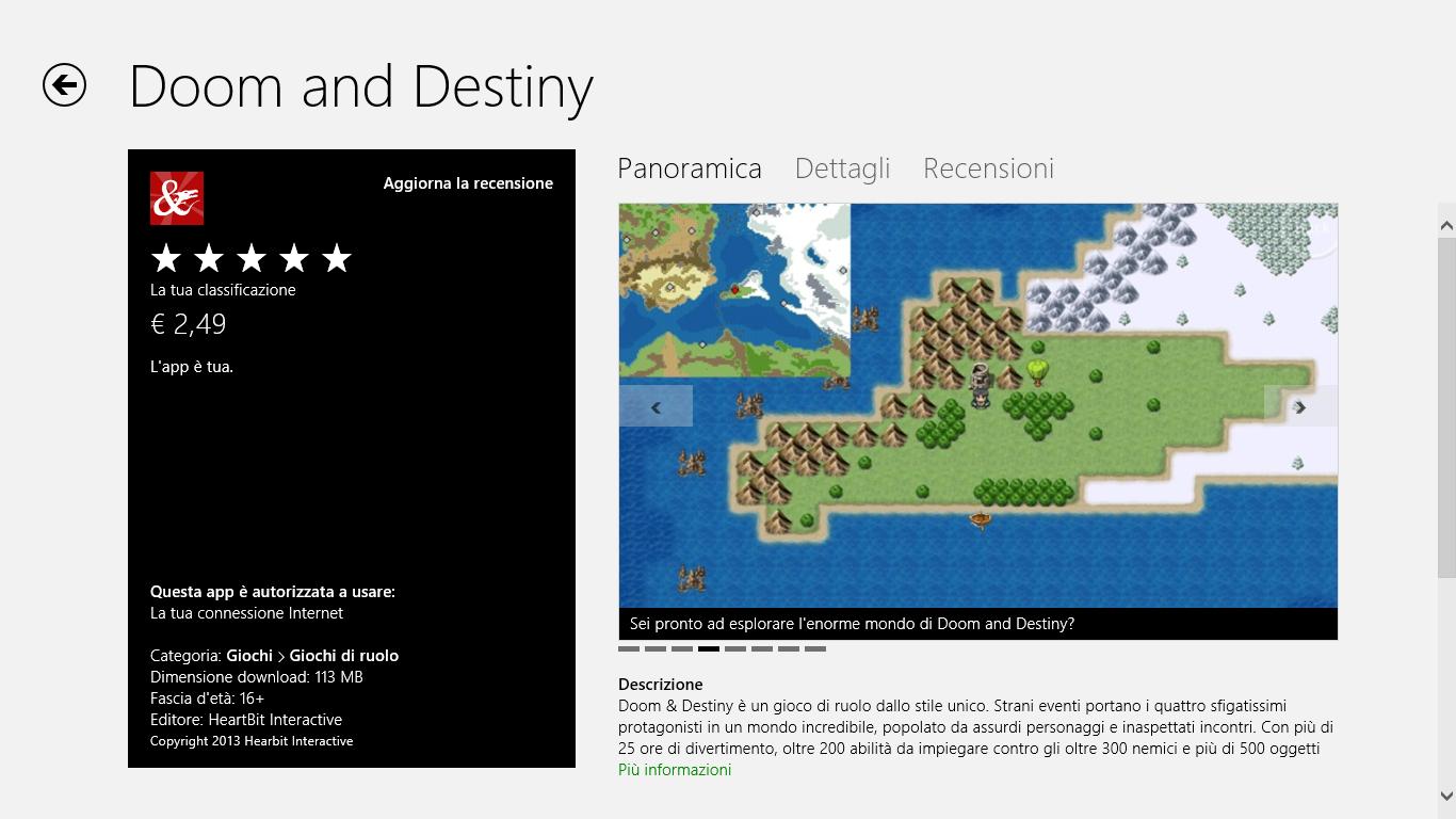 Doom & Destiny on Windows 8 Store   Heartbit Interactive